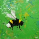 Bee Painting 247 12x12